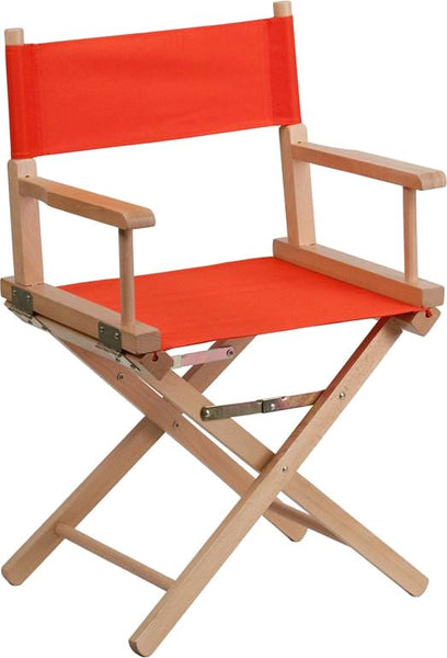 Standard Height Directors Chair In Brown Red Folding