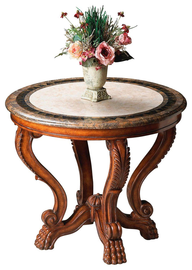 Tremendous Traditional Round Foyer Table Fossil Stone Inzonedesignstudio Interior Chair Design Inzonedesignstudiocom