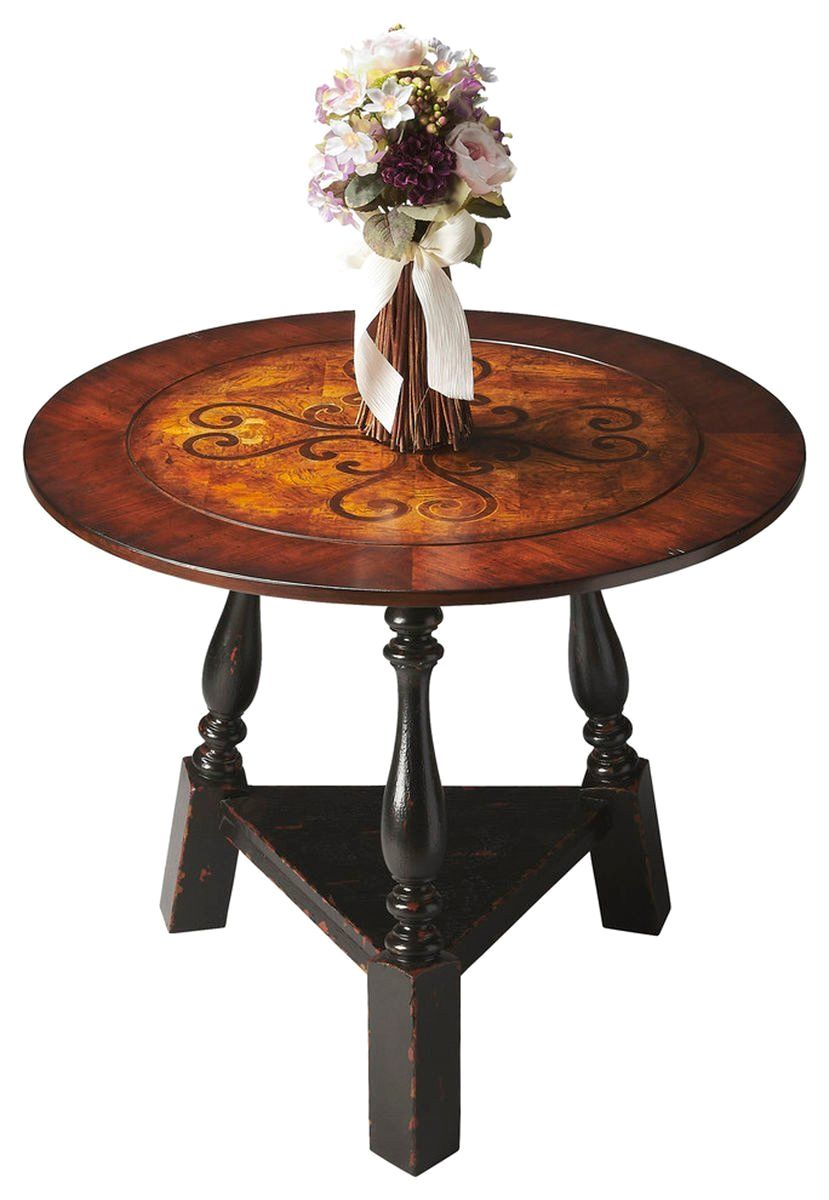 Traditional Round Foyer Table : Butler furniture traditional round foyer table multi color