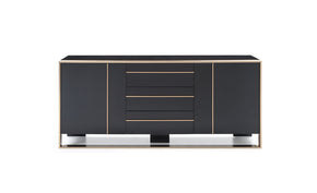 Sideboards - Vig Furniture VGVCG-A002 Nova Domus Cartier Modern Black & Rosegold Buffet | Only $1789.80. Buy today at http://www.contemporaryfurniturewarehouse.com
