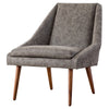 Enzo PU Leather Lounge Chair Kalahari Gray
