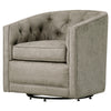 Walsh Fabric Swivel Chair Denim Dove Gray