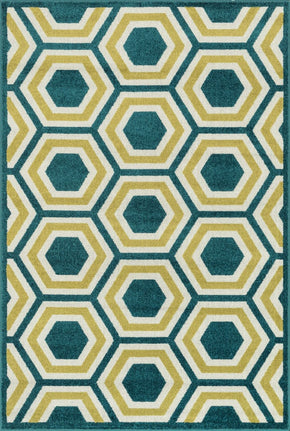Loloi Catalina Peacock / Citron Area Rug