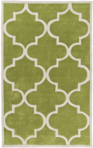 Mamba Geometric Area Rug Green