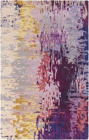 Banshee Area Rug Purple Yellow