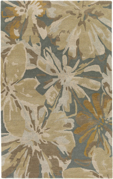 Athena Floral And Paisley Area Rug Neutral Brown