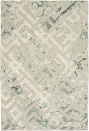 Serafina Geometric Area Rug Green