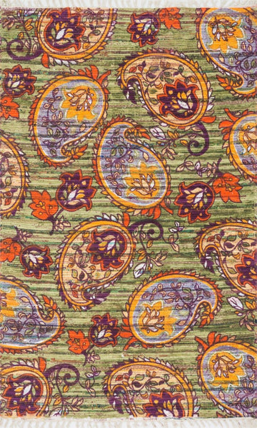 Loloi Aria Green / Orange Area Rug