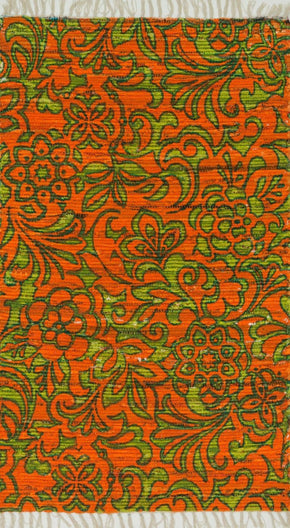 Loloi Aria Orange / Lime Area Rug