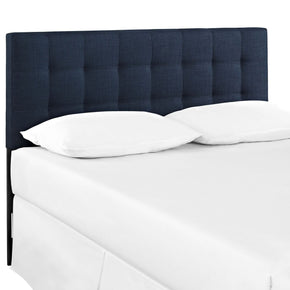 Lily Queen Upholstered Fabric Headboard Navy