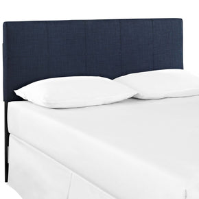Oliver Queen Upholstered Fabric Headboard Navy