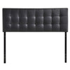 Headboards - Modway MOD-5130-BLK Lily Queen Upholstered Faux Leather Headboard | 848387019204 | Only $115.55. Buy today at http://www.contemporaryfurniturewarehouse.com