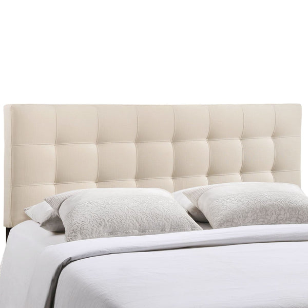 Headboards - Modway MOD-5144-IVO Lily King Upholstered Fabric Headboard | 848387019303 | Only $135.75. Buy today at http://www.contemporaryfurniturewarehouse.com