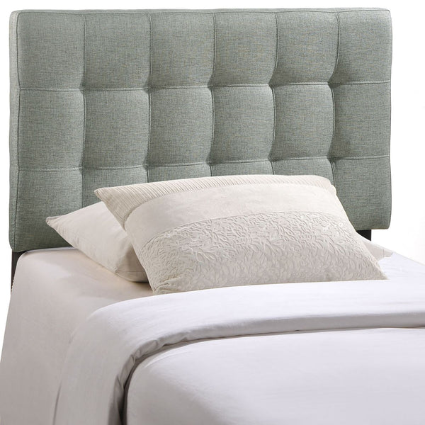 Lily Twin Upholstered Fabric Headboard Gray