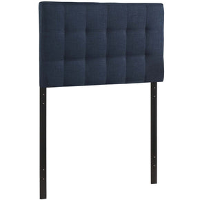 Lily Twin Upholstered Fabric Headboard Navy