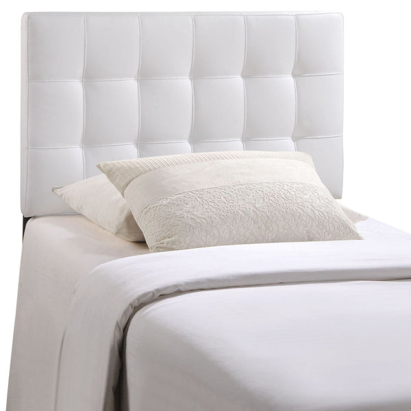 Headboards - Modway MOD-5149-WHI Lily Twin Upholstered Faux Leather Headboard | 848387019457 | Only $69.50. Buy today at http://www.contemporaryfurniturewarehouse.com