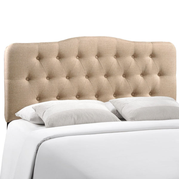 Headboards - Modway MOD-5156-BEI Annabel Full Upholstered Fabric Headboard | 848387019594 | Only $143.75. Buy today at http://www.contemporaryfurniturewarehouse.com