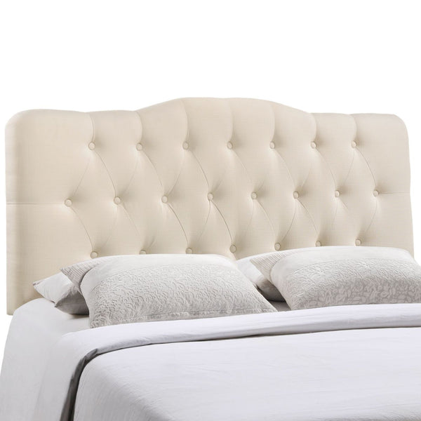 Headboards - Modway MOD-5156-IVO Annabel Full Upholstered Fabric Headboard | 848387019617 | Only $140.00. Buy today at http://www.contemporaryfurniturewarehouse.com
