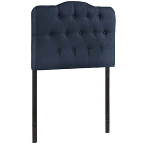 Annabel Twin Upholstered Fabric Headboard Navy