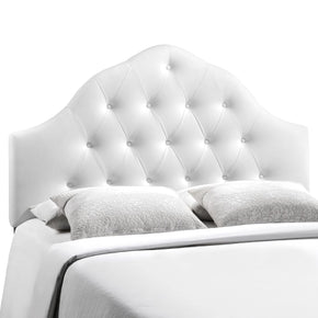 Sovereign King Upholstered Faux Leather Headboard White