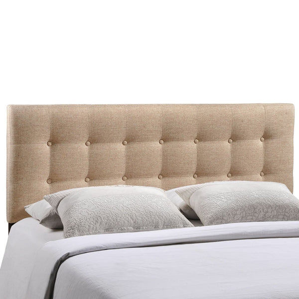 Headboards - Modway MOD-5170-BEI Emily Queen Upholstered Fabric Headboard | 848387019921 | Only $117.30. Buy today at http://www.contemporaryfurniturewarehouse.com