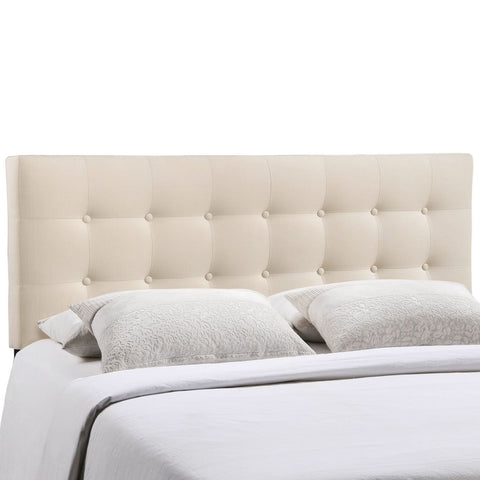 Headboards - Modway MOD-5170-IVO Emily Queen Upholstered Fabric Headboard | 848387019945 | Only $114.80. Buy today at http://www.contemporaryfurniturewarehouse.com