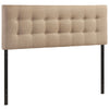 Headboards - Modway MOD-5170-GRY Emily Queen Upholstered Fabric Headboard | 848387019938 | Only $114.30. Buy today at http://www.contemporaryfurniturewarehouse.com