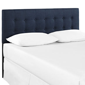 Emily Queen Upholstered Fabric Headboard Navy
