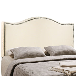 Headboards - Modway MOD-5207-IVO Curl King Nailhead Upholstered Headboard | 848387034863 | Only $202.05. Buy today at http://www.contemporaryfurniturewarehouse.com