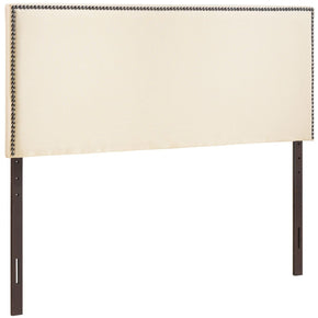 Region Full Nailhead Upholstered Headboard Ivory