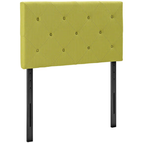 Terisa Twin Upholstered Fabric Headboard Wheatgrass