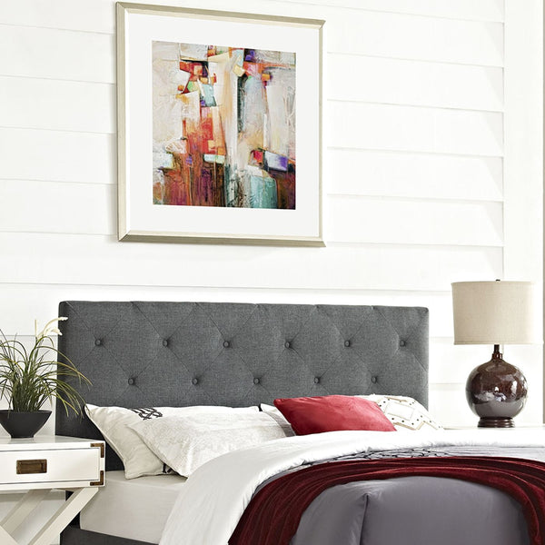 Headboards - Modway MOD-5372-GRY Terisa King Upholstered Fabric Headboard | 889654042303 | Only $127.75. Buy today at http://www.contemporaryfurniturewarehouse.com