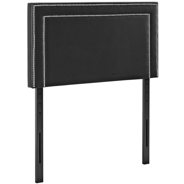 Headboards - Modway MOD-5373-BLK Jessamine Twin Upholstered Faux Leather Headboard | 889654042341 | Only $84.80. Buy today at http://www.contemporaryfurniturewarehouse.com