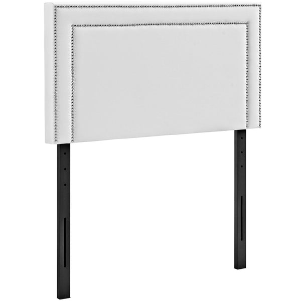 Headboards - Modway MOD-5373-WHI Jessamine Twin Upholstered Faux Leather Headboard | 889654042358 | Only $83.55. Buy today at http://www.contemporaryfurniturewarehouse.com