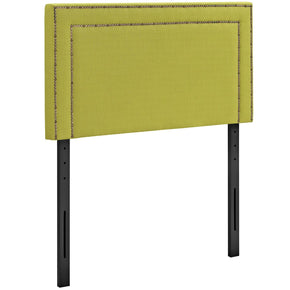 Jessamine Twin Upholstered Fabric Headboard Wheatgrass