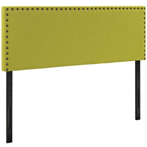Phoebe Queen Upholstered Fabric Headboard Wheatgrass
