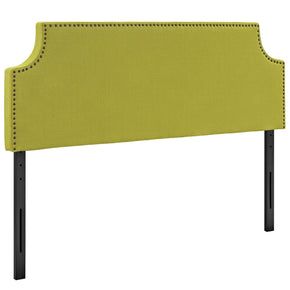 Laura Queen Upholstered Fabric Headboard Wheatgrass