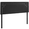 Josie Queen Upholstered Faux Leather Headboard Black