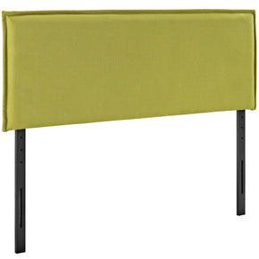 Camille Queen Upholstered Fabric Headboard Wheatgrass
