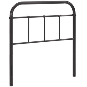 Serena Twin Steel Headboard Brown