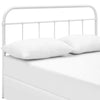 Serena Full Steel Headboard White