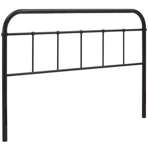 Serena Queen Steel Headboard Brown