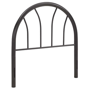 Damaris Twin Steel Headboard Brown