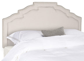 Alexia Taupe Headboard - Silver Nail Head King