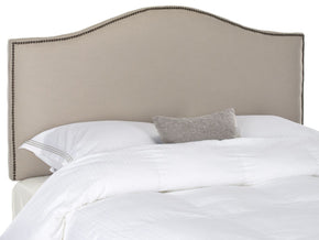 Connie Taupe Headboard - Brass Nail Head King