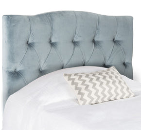 Axel Wedgewood Blue Tufted Headboard Twin