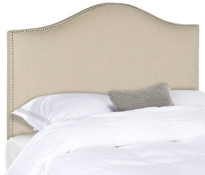 Connie Hemp Headboard - Silver Nail Head Full