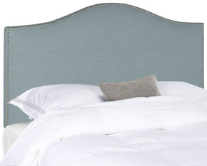 Connie Sky Blue Headboard - Silver Nail Head Full