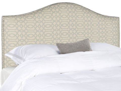 Connie Wheat/blue Headboard - Silver Nail Head Full