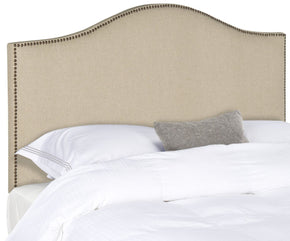 Connie Hemp Headboard - Brass Nail Head Queen